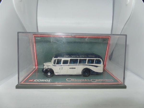Corgi OOC 42501 42501/2 Bedford OB Bus Coach Royal Blue St Ives Raised Seats